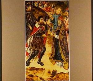 De ontmoeting tussen Abram [Abraham] en Melchisedek(Genesis 14:18-20)