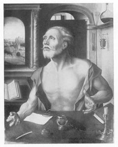 De boetvaardige Hieronymus in zijn studeervertrek