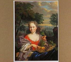 Portret van Margaretha Schoemaker, geb. Esser (1695-1771)