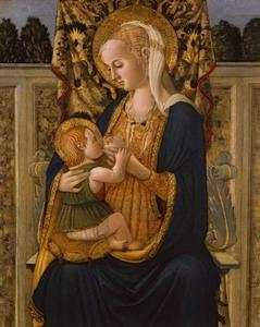 Maria voedt het kind