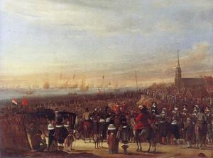 De inscheping van koning Karel II Stuart in Scheveningen op 23 mei 1660