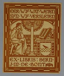 Ex-libris voor J. M. de Bont