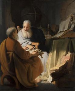Twee oude mannen in dispuut