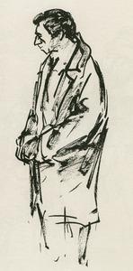 Portret van Yves Montand (1921-1991)