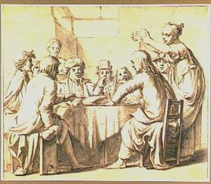 Christus in het huis van Simon de Melaatse wordt door een vrouw gezalfd (Mattheüs 26:6-13)