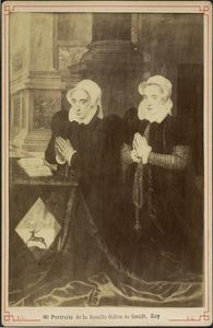Stichtersportret van Maria de Deckere met haar dochter Beatrijs