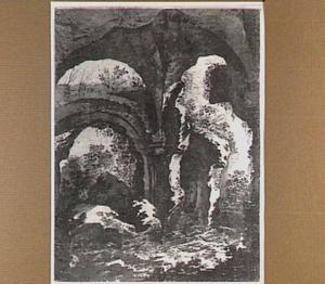 Tivoli, interieur van de boog naar de baden van de Villa Adriani
