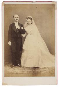 Portret van François Theodorus Peereboom Voller (1845-1932) en Rosalie Adrienne Marie van Elk (1852-1872)