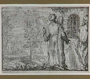 Johannes de Doper in de gevangenis laat zijn leerlingen vragen wie Jezus is (Mattheüs 11:2-10)