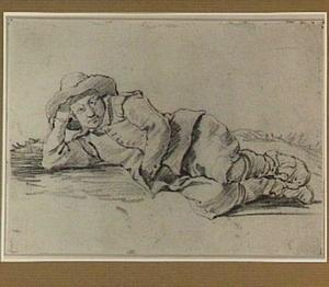 Liggende jongen met hoed