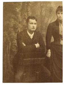 Portret van John Bake (1869-1944) en Susanna Maria Bake (1865-1940)