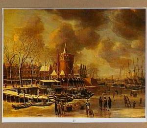 IJsgezicht bij de Schreierstoren in Amsterdam