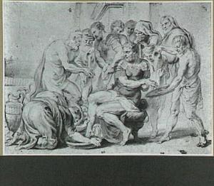 Eurycleia wast de voeten van Ulysses
