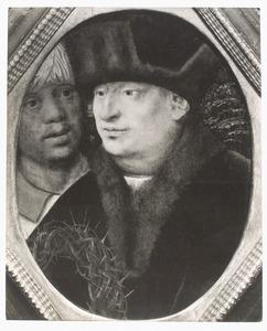 Wenende man met doornenkroon, waarschijnlijk Jozef van Arimathea (fragment van een 'Bewening')