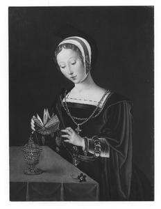 De H. Maria Magdalena met zalfpot en boek