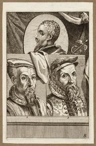 Portretten van Antonio Moro (1519-1575), Matthys Cock (...-1548) en Hieronymus Cock (1518-1570)
