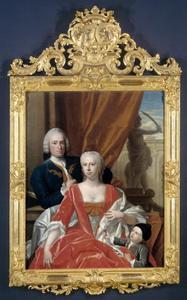 Portret van Berend van Iddekinge (1717-1801), Johanna Maria Sichterman (1726-1756) en Jan Albert van Iddekinge (?-?)
