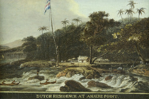 Hollandse residentie op Anjere Point (Anyere, Java)
