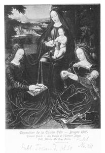Maria met kind en de heligen Barbara en Catharina