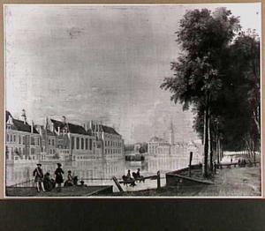 De Hofvijver in Den Haag gezien vanaf de Korte Vijverberg