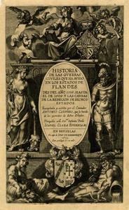 Titelpagina voor A. Carnero, Historia de las Guerras Civiles …, Brussel 1625