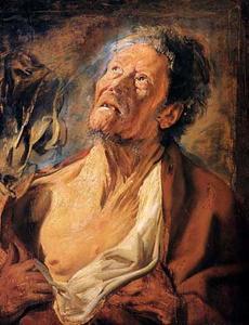 Portret van Abraham Grapheus (?-1624) als Job