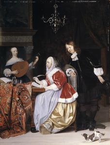 Jonge vrouw die muziek schrijft