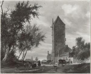 De Utrechtse Plompetoren in een gefantaseerde omgeving