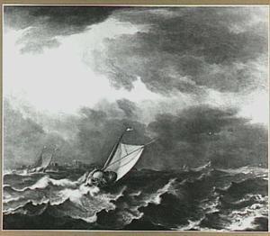 Schepen in een storm voor Zierikzee