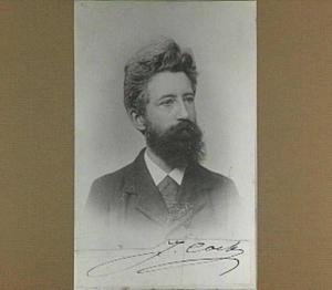 Portret van de schilder J. Cock