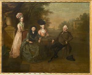 Portret van Cornelia Maria van der Port (1710-1796) en familie