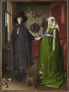 Dubbelportret van Giovanni Arnolfini (?-?) en zijn echtgenote Giovanna Cenami (?-?)