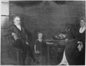 Portret van de familie Ogtrop