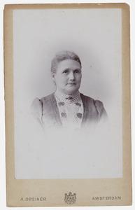 Portret van Antoinetta Geertruida Wieman (1849-1909)