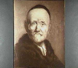 Portret van een oude man met kalotje