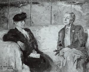 Portret van Maria Engelina van Regteren Altena (1868-1958) en Henri Gerald van Tussenbroek (1879-1963)