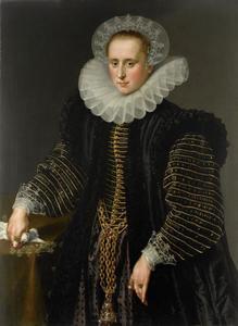 Portret van een vrouw, waarschijnlijk Maria Schurman (1575-1621)