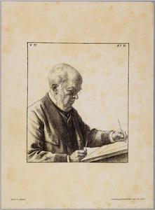 Portret van de schilder Adolph Menzel