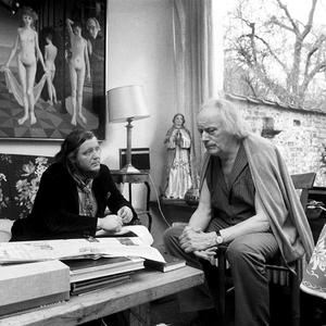 Portret van Ed Wingen en Paul Delvaux