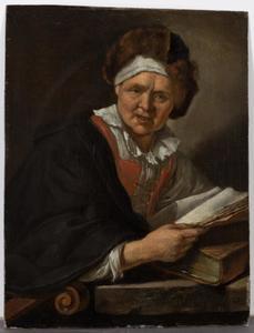 Oude geleerde met een boek