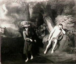 Mercurius maakt zich op de slapende Argus, die Io bewaakt, te onthoofden