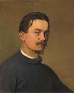 Zelfportret van Félix Vallotton (1865-1925)