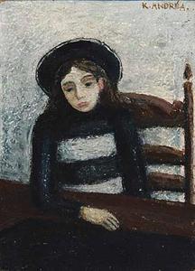 Portret van Pat Andrea (1942)