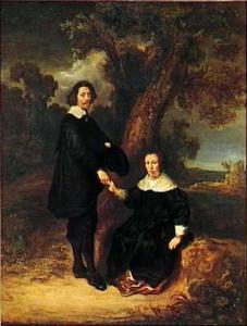 Dubbelportret van Dirck Graswinckel (1600-1666) en Geertruyt van Loon (1600-1675)