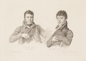 Portretten van Pieter Gerardus van Os (1776-1839) en Albertus Jonas Brandt (1788-1821)