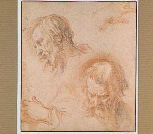 Studies van een mannenkop en twee handen