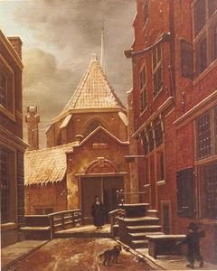 De Begijnensteeg met de ingang van het Begijnhof in Amsterdam