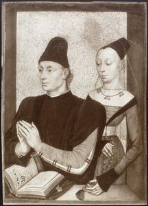 Dubbelportret van een man en een vrouw