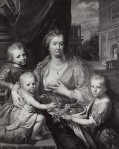 Portret van Sophia Hedwig van Brunswijk-Wolfenbuttel (1592-1642) met haar zonen Hendrik Casimir I (1612-1640), Willem Frederik (1613-1664) en Maurits (1619-1628) van Nassau-Dietz als Caritas
