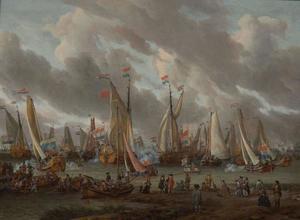 Spiegelgevecht op het IJ ter ere van Tsaar Peter de Grote op  1 september 1697